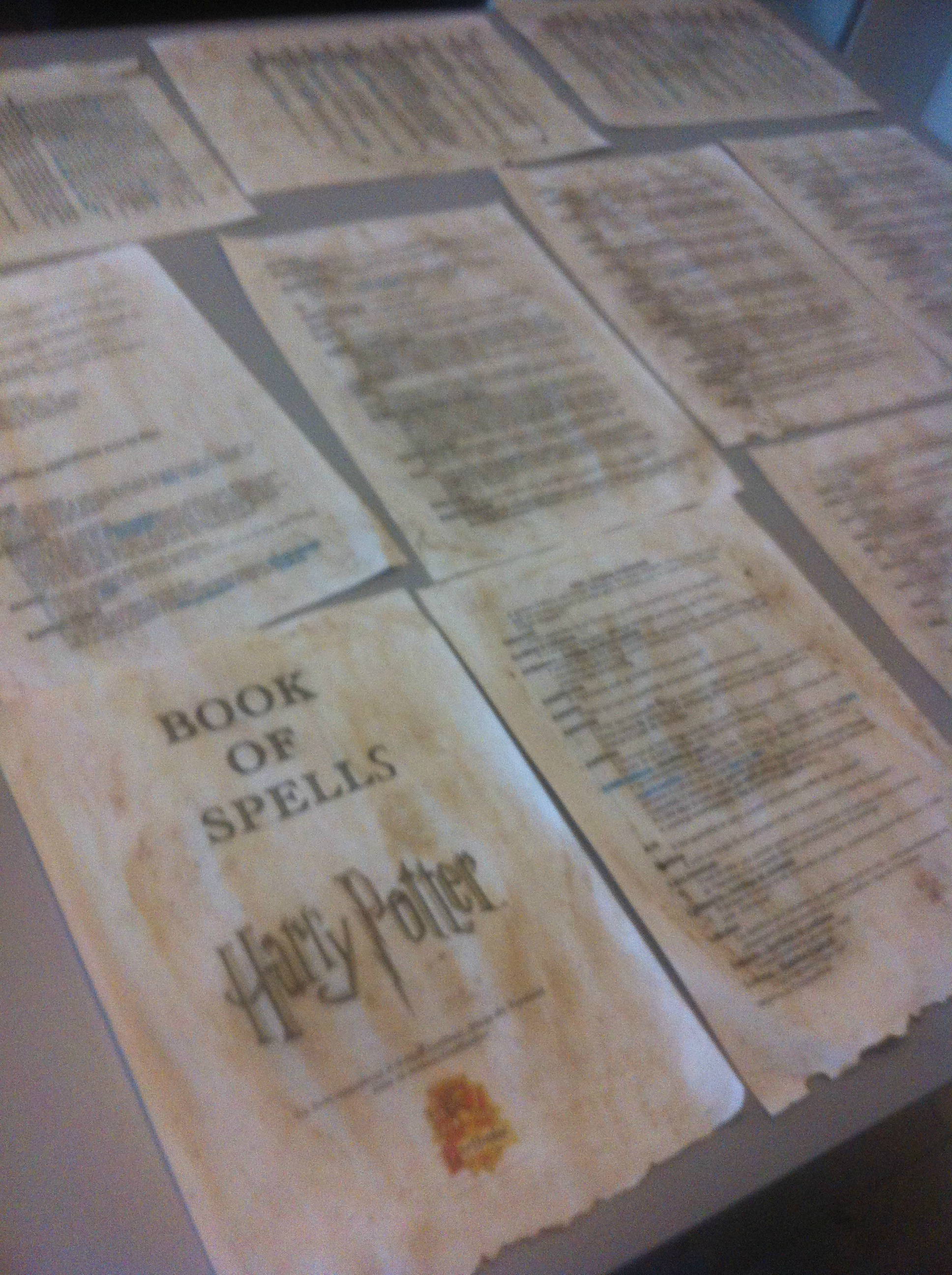harry potter book of spells livre des sorts DIY