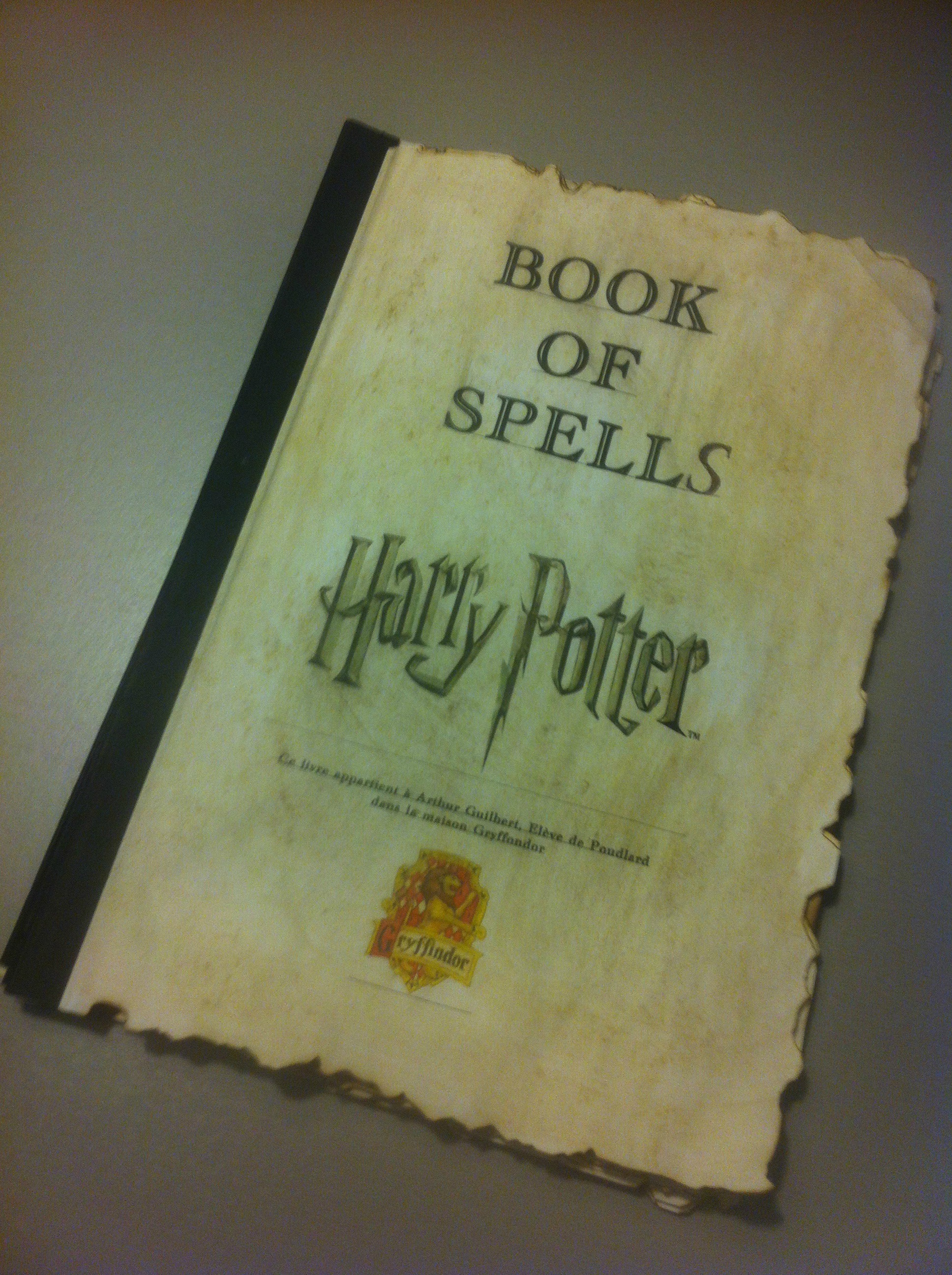 harry potter book of spells grimoire