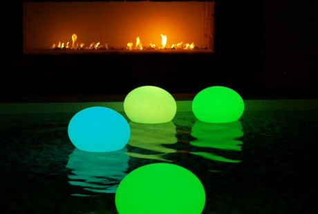flat ball pouf lampe LED